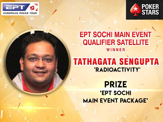 Tathagata Sengupta wins EPT Sochi ME package