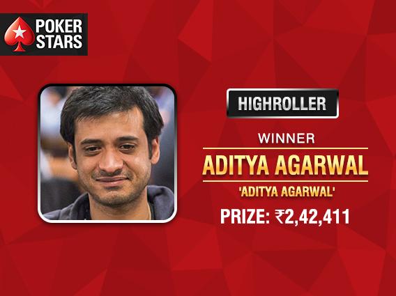 Team Pro Aditya Agarwal takes down PokerStars Highroller