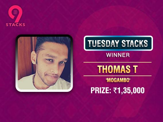 Thomas T ships Tuesday Stacks on 9Stacks