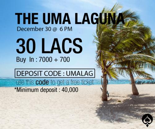 UMA Poker to host UMA Laguna 30L GTD tomorrow