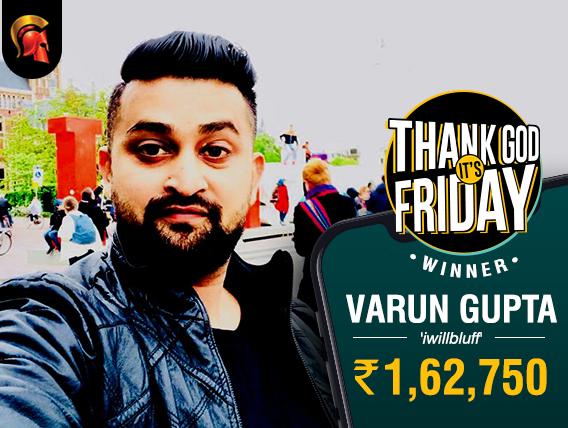 Varun 'iwillbluff' Gupta wins Spartan TGIF