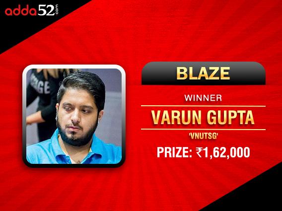 Varun Gupta Blazes to victory on Adda52