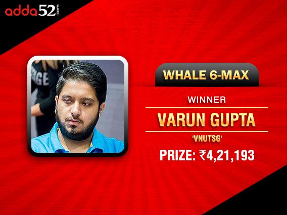 Varun Gupta tames Whale on Adda52