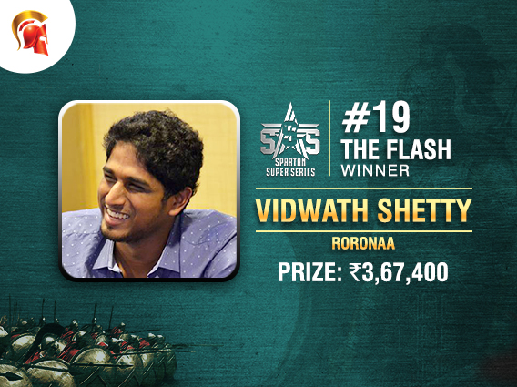 Vidwath Shetty wins The Flash at Spartan's SSS