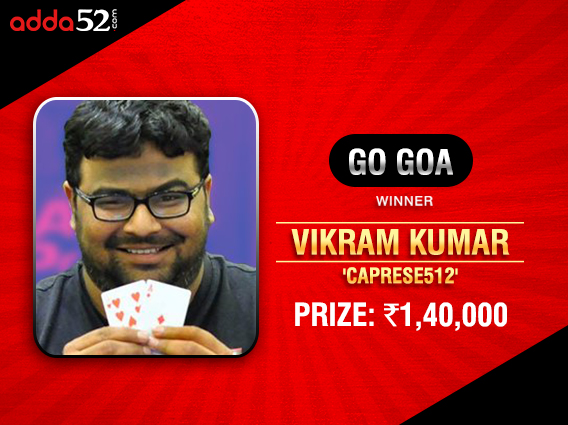 Vikram 'Lungi' Kumar wins Adda52 Go Goa