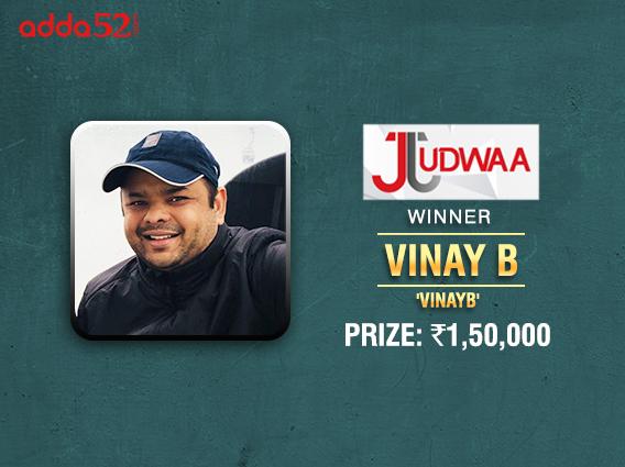 Vinay B ships Tuesday's Judwaa on Adda52