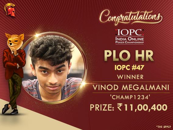 Vinod Megalmani ships PLO HR on IOPC Day 8