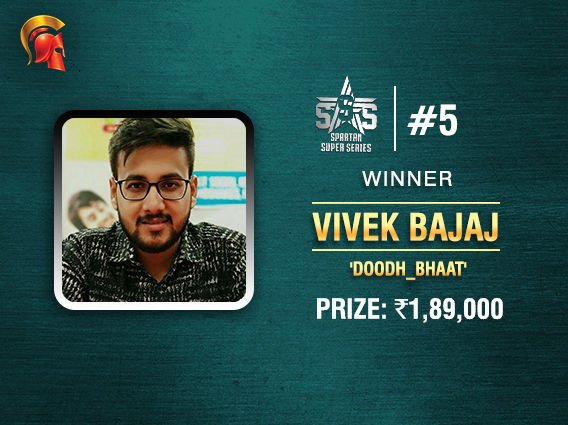 Vivek Bajaj ships SSS Event #5 on Spartan