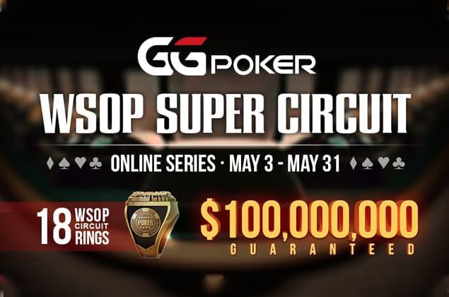 Justin Zhu leading WSOP Online Super Circuit Leaderboard