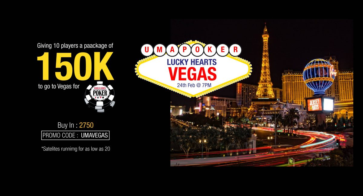 Win 1.5L Vegas packages in Uma Poker's 'Lucky Hearts'