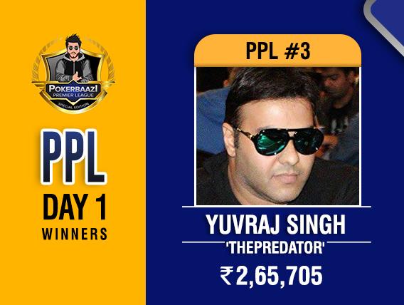 Yuvraj Singh among winners on PPL Day 1