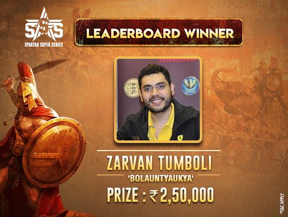 Zarvan Tumboli nails Feb 2019 SSS Leaderboard on Spartan