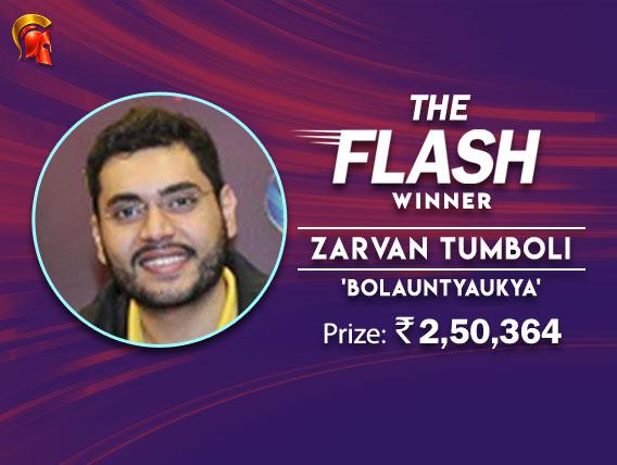 Zarvan Tumboli overcomes tough FT in Spartan Flash