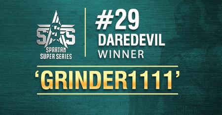 'grinder1111' wins Spartan Daredevil, scores 2nd SSS title