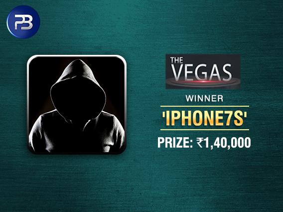 'iphone7s' wins The Vegas on PokerBaazi