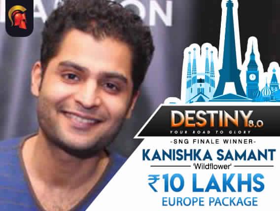 Kanishka Samant wins Destiny 8.0 SNG, 10 Lakhs EU package