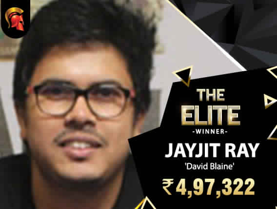Once is never enough; Jayjit Ray wins Elite again!