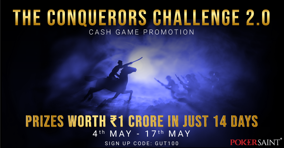 PokerSaint's 'The Conquerors Challenge 2.0' has INR 1 Crore on offer!