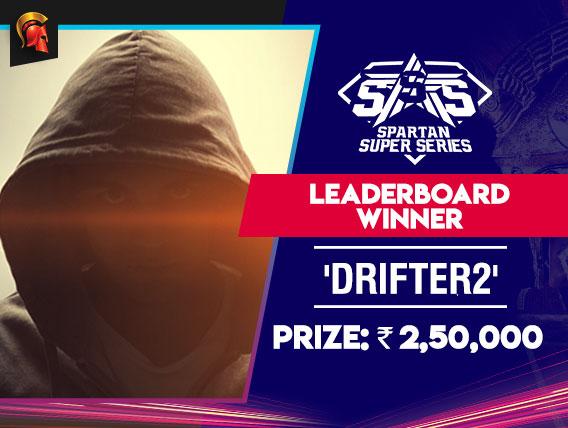 'Drifter2' tops March SSS Leaderboard on Spartan