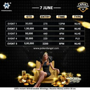 Dangal Sunday Value Series is offering INR 7.5L GTD!