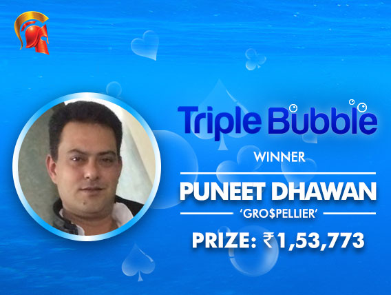 3-way deal gives Puneet Dhawan Spartan Triple Bubble title