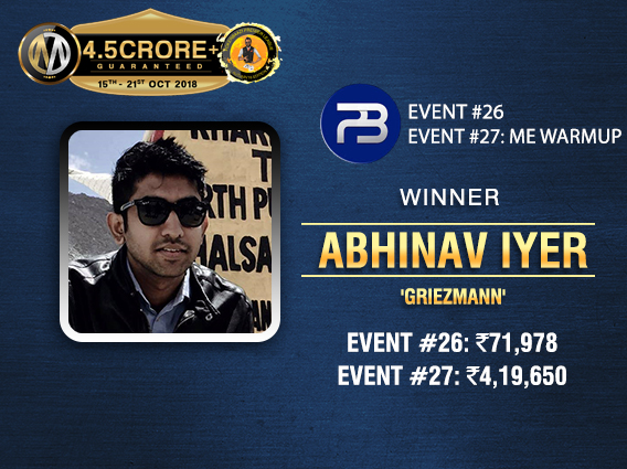 Abhinav Iyer bags two titles on PPL Day 6