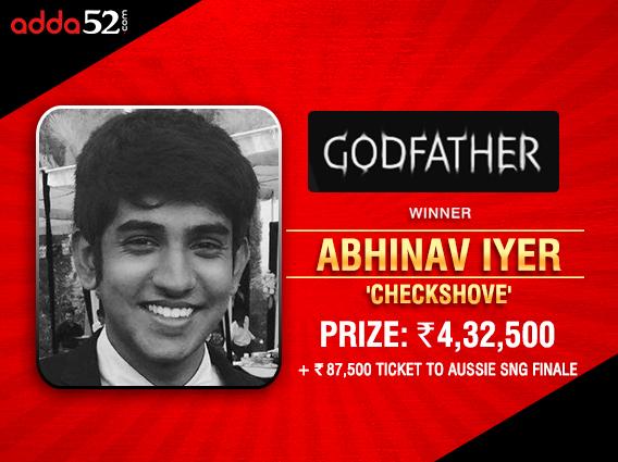 Abhinav Iyer beats Aditya Sushant heads-up in Godfather