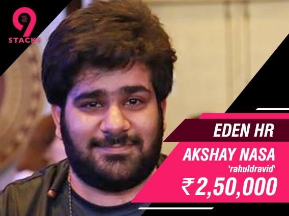 Akshay Nasa wins 9stacks Eden HR yesterday