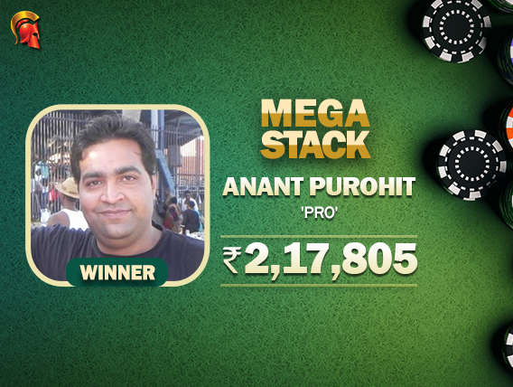 Anant Purohit wins Diwali Special Mega Stack
