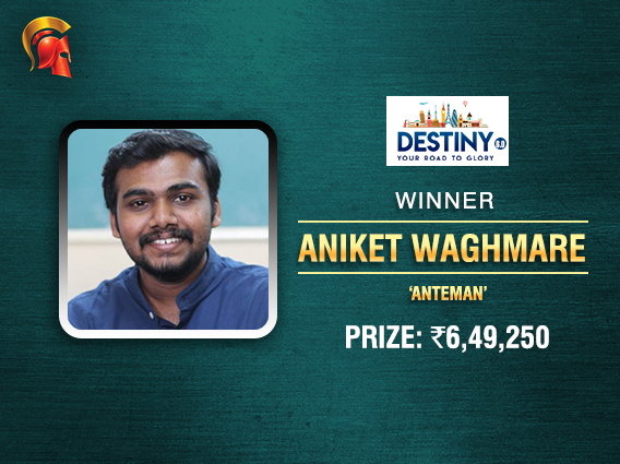 Aniket Waghmare books ticket to another Destiny Finale