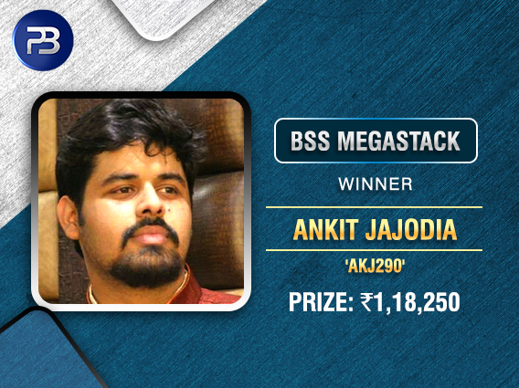 Ankit Jajodia wins BSS MegaStack on PokerBaazi