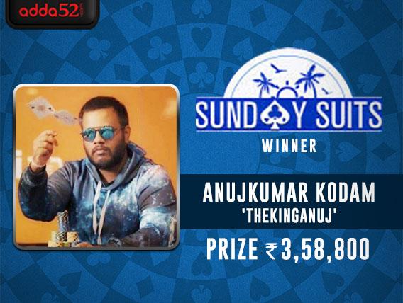 Anujkumar Kodam takes down Adda52's Sunday Suits