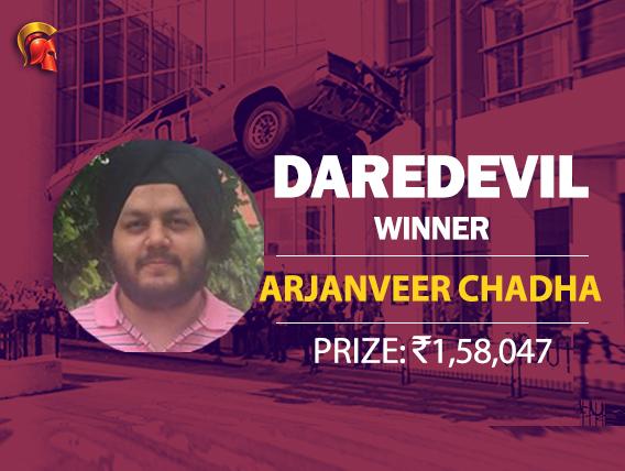 Arjanveer Chadha is this week's Spartan Daredevil winner