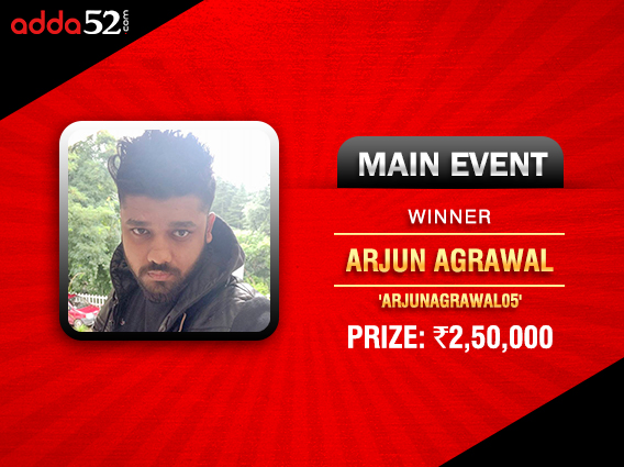 Arjun Agrawal ends victorious in Chip Up Series Main Event