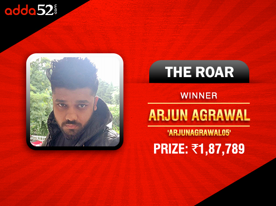 Arjun Agrawal wins on consecutive days on Adda52