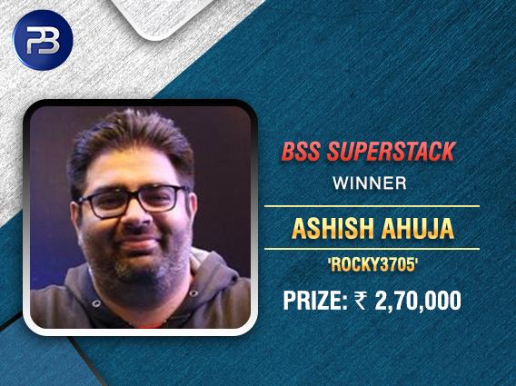Ashish Ahuja wins BSS SuperStack title on PokerBaazi