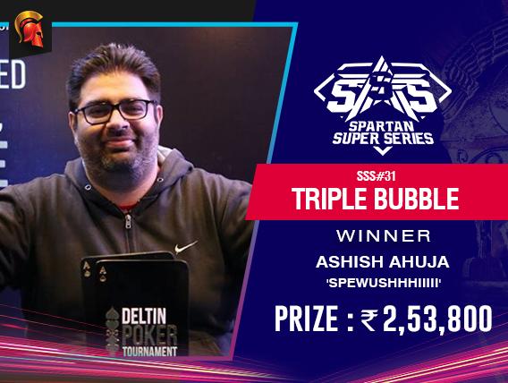 Ashish Ahuja wins again - SSS Triple Bubble this time