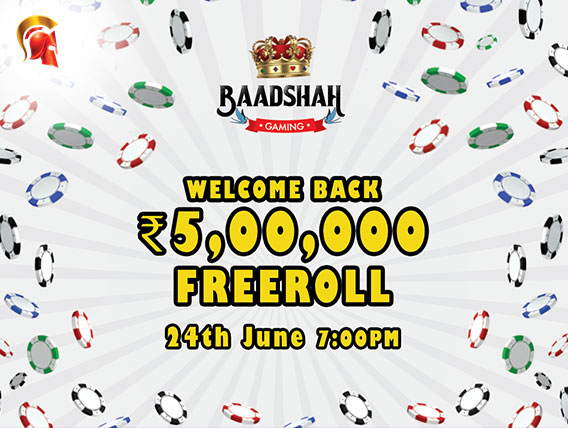 Baadshah Poker to host 5L Freeroll this Sunday