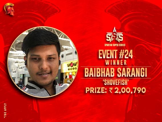 Baibhab Sarangi among winners on SSS Final Day
