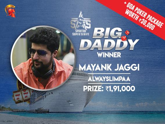 Big Daddy Mayank Jaggi wins trip to Goa
