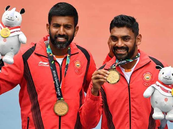 Bopanna-Sharan take gold medal in Doubles