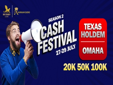 Cash Game Festival from 27-29 July at Big Daddy Casino