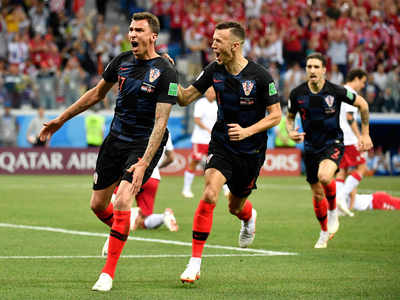 Croatia beat Denmark, set up quarter final clash with Russia