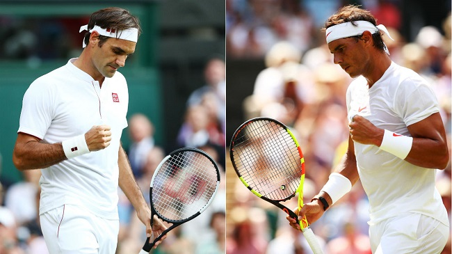 Federer and Nadal set opponents straight at Wimbledon