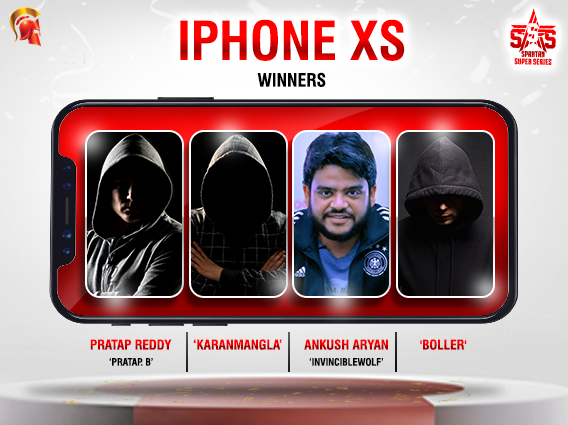 Four players win iPhone XS from Spartan