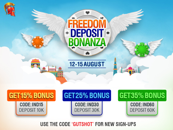 Freedom Deposit Bonanza at Spartan