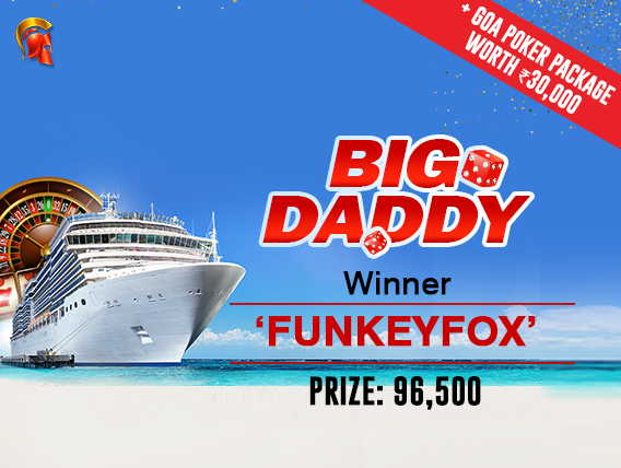 'FunkeyFox' wins trip to Big Daddy Casino in Goa