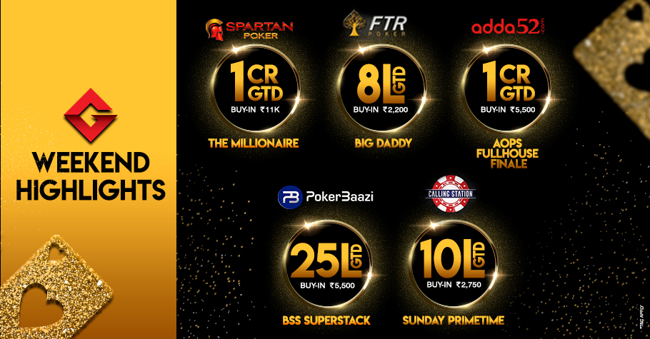 Get ready for Millionaire, AOPS and Massive Tournaments this Weekend!