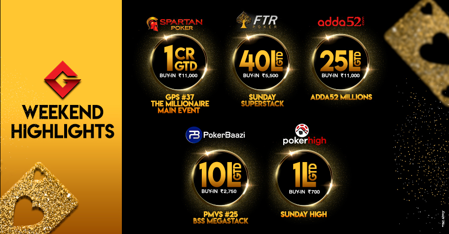 Welcome the weekend with five massive value tournaments!