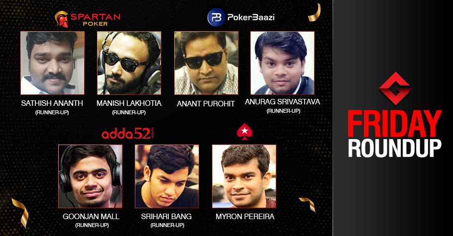 Friday Roundup: Anant Purohit, Myron Pereira emerge victorious!
